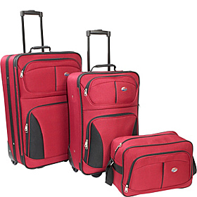 Fieldbrook 3 Piece Luggage Set Red