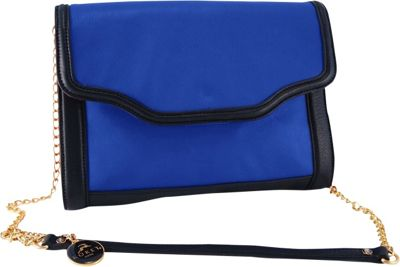Koret Handbags Triple Color Clutch - Cobalt