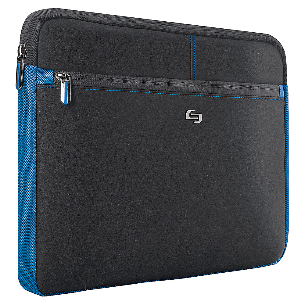 SOLO Tech - 16 Laptop Sleeve - Black with Blue Trim - Technology, Electronic Cases