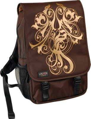 Laurex 15.6 inch Laptop Backpack - Gold Wave Brown