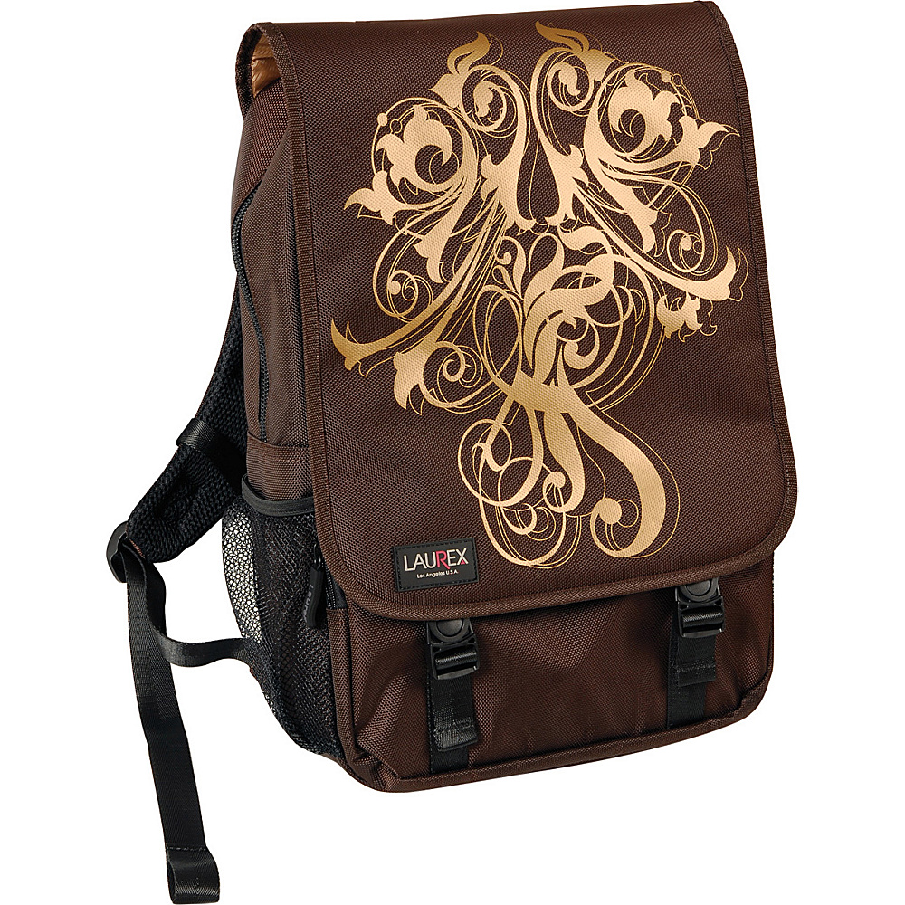Laurex 15.6 Laptop Backpack Gold Wave Brown