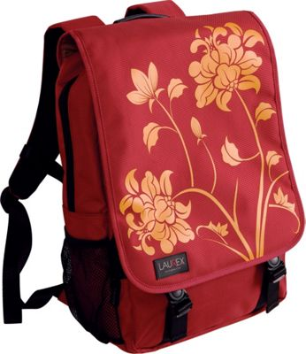 Laurex 15.6 inch Laptop Backpack - Red Blossom