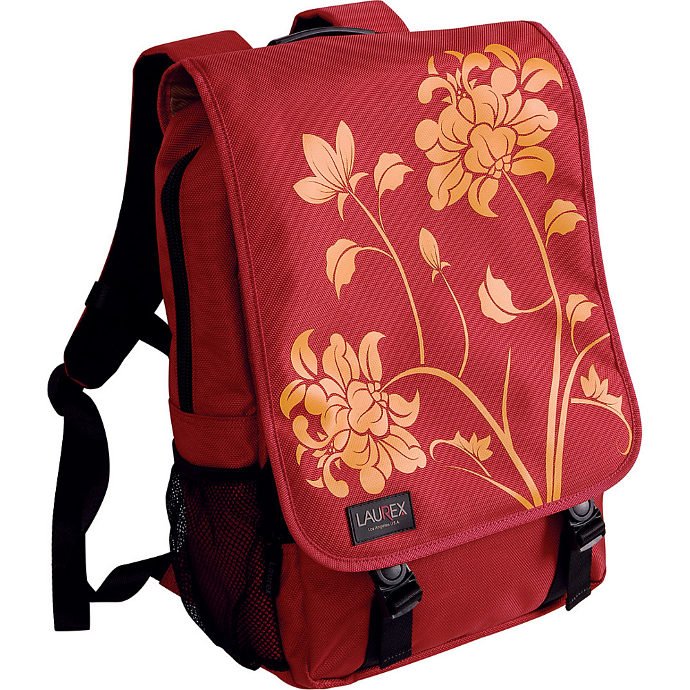 Laurex 15.6 Laptop Backpack Red Blossom