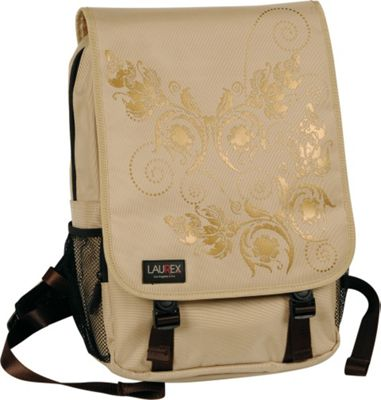 Laurex 15.6 inch Laptop Backpack - Beige Butterfly