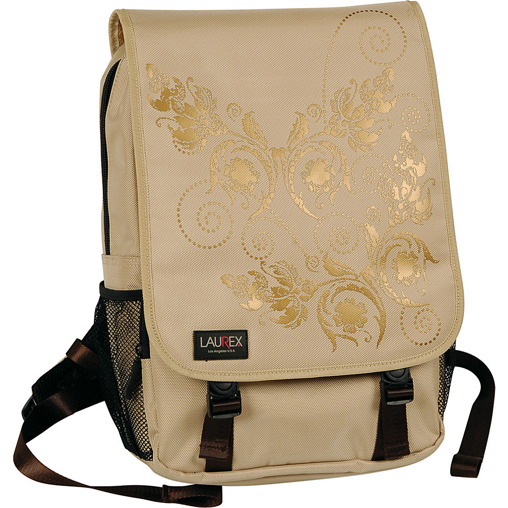 Laurex 15.6 Laptop Backpack Beige Butterfly