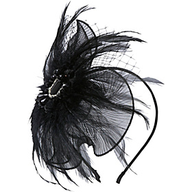 Pleated Fascinator Black