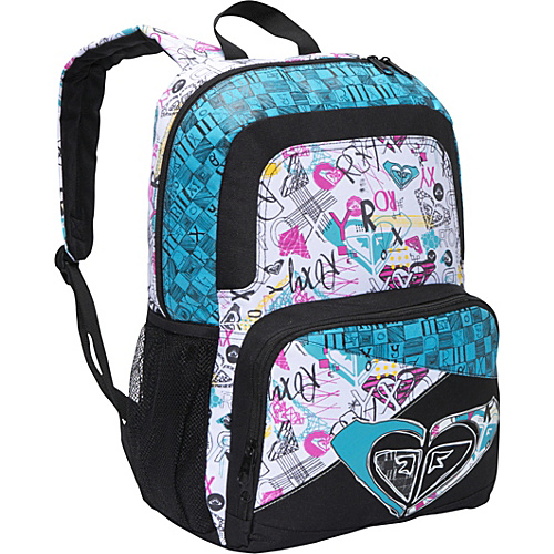 Roxy Girl Fresh Press Blue Atoli - Roxy Girl School & Day Hiking Backpacks