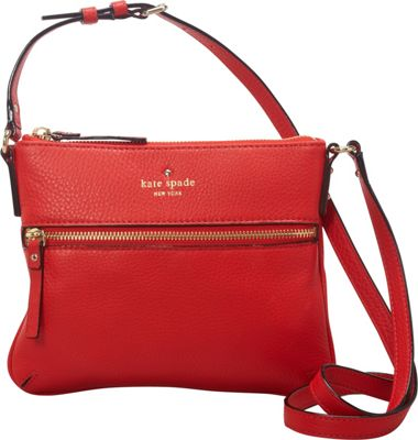 kate spade new york Cobble Hill Tenley Zip Front Crossbody Bag Cherry Liquer - kate spade new york Designer Handbags