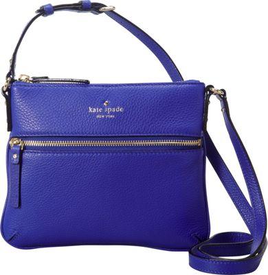 kate spade new york Cobble Hill Tenley Zip Front Crossbody Bag Bright Lapis - kate spade new york Designer Handbags