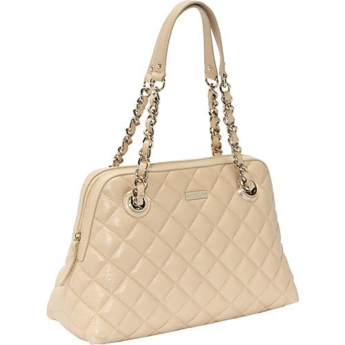 kate spade new york Gold Coast Georgina Quilted Zip Satchel Cashew - kate spade new york Designer Handbags