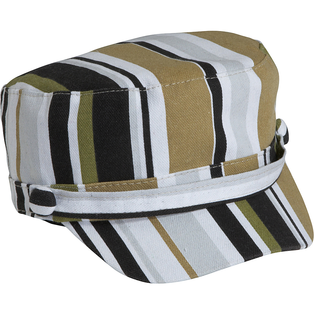 Magid Stripe Print Page Boy Cap Brown multi