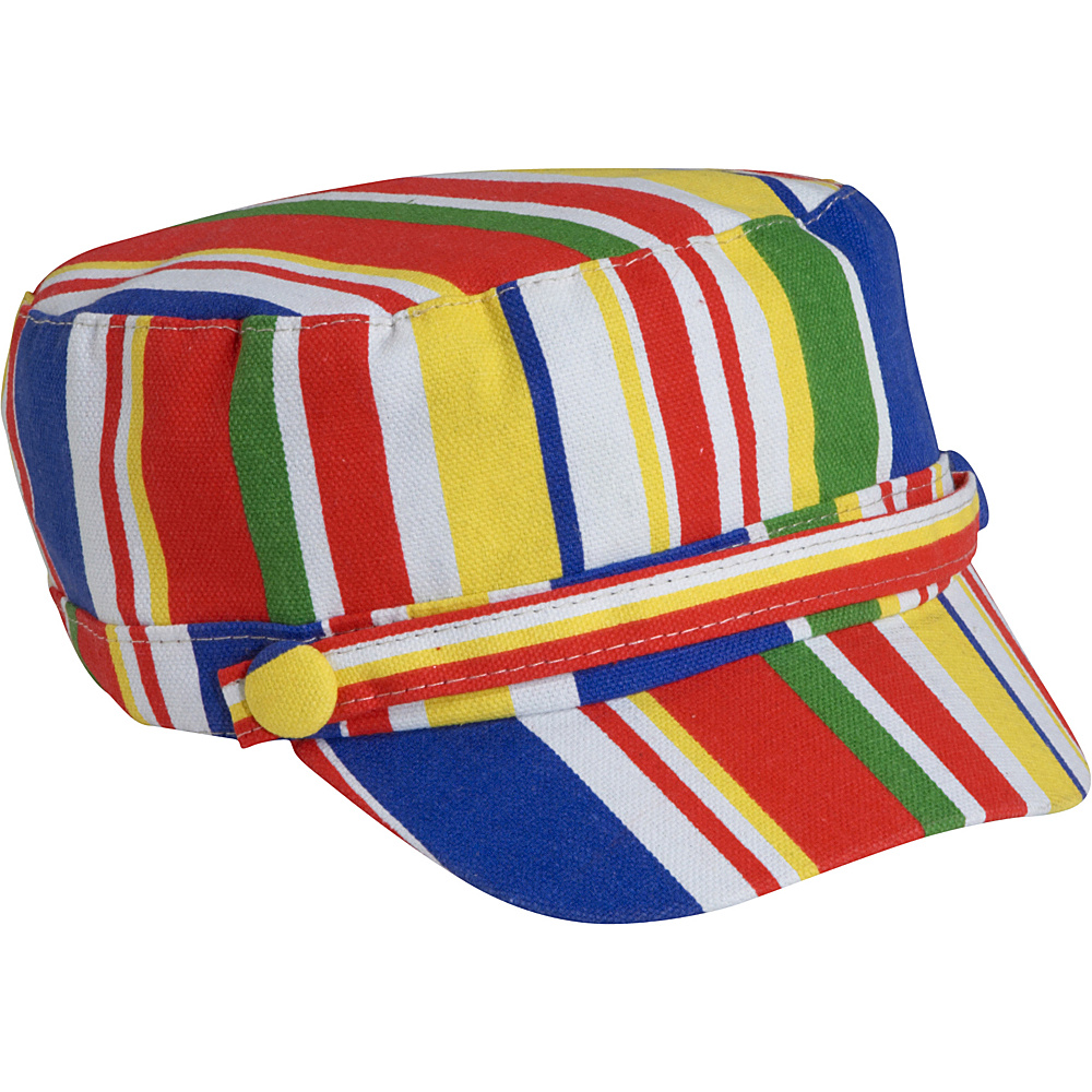 Magid Stripe Print Page Boy Cap - Multi - Fashion Accessories, Hats/Gloves/Scarves
