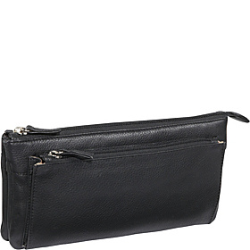 EW Top Zip Clutch Black