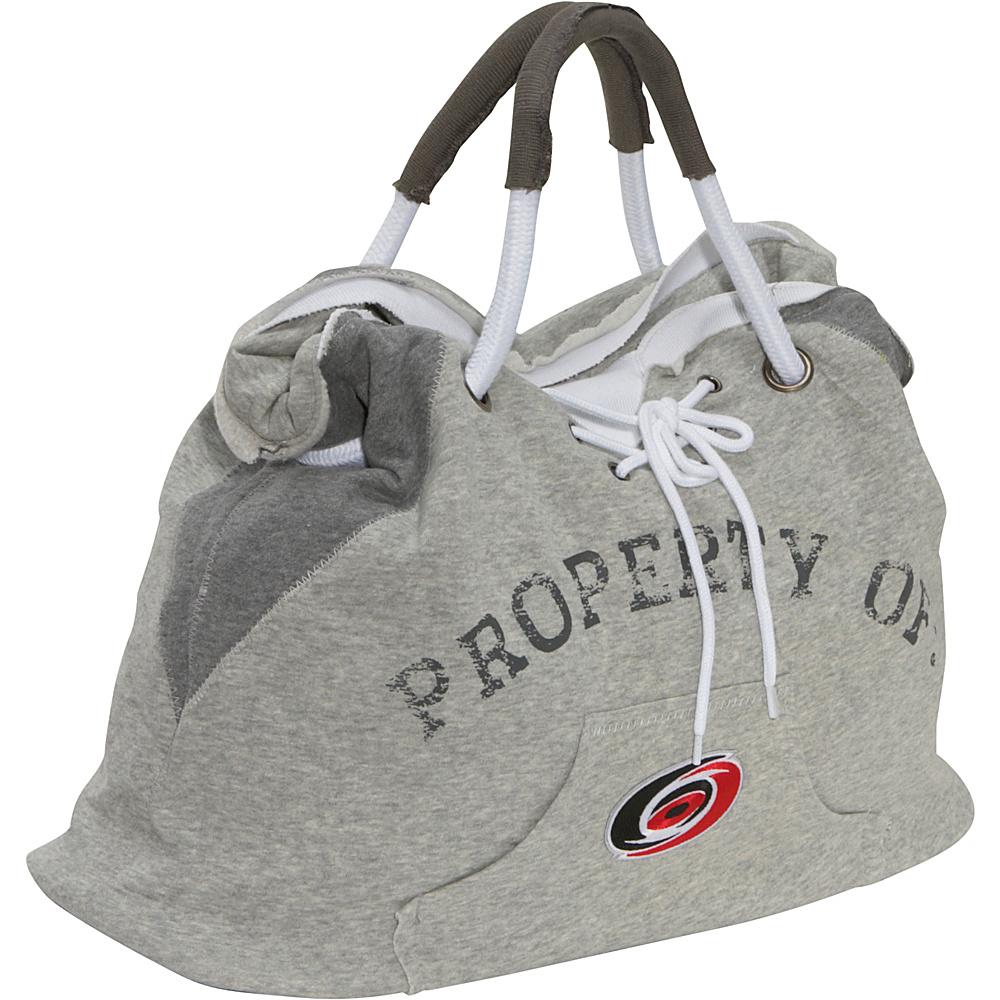 Littlearth NHL Hoodie Tote Grey/Carolina Hurricanes Carolina Hurricanes - Littlearth Fabric Handbags - Handbags, Fabric Handbags