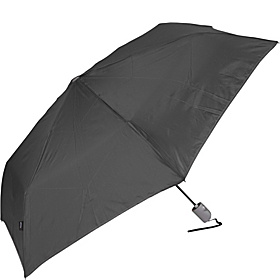 Flat Auto Open Duomatic Umbrella - Solid Colors Black