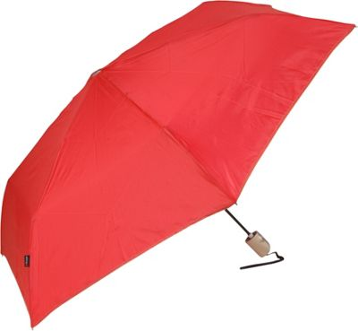 Knirps Flat Duomatic Umbrella - Auto Open - Red