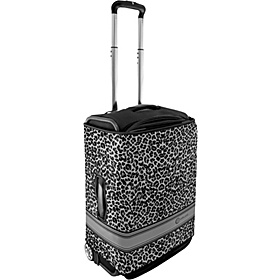 Small Luggage Cover - Black Leopard Leopard