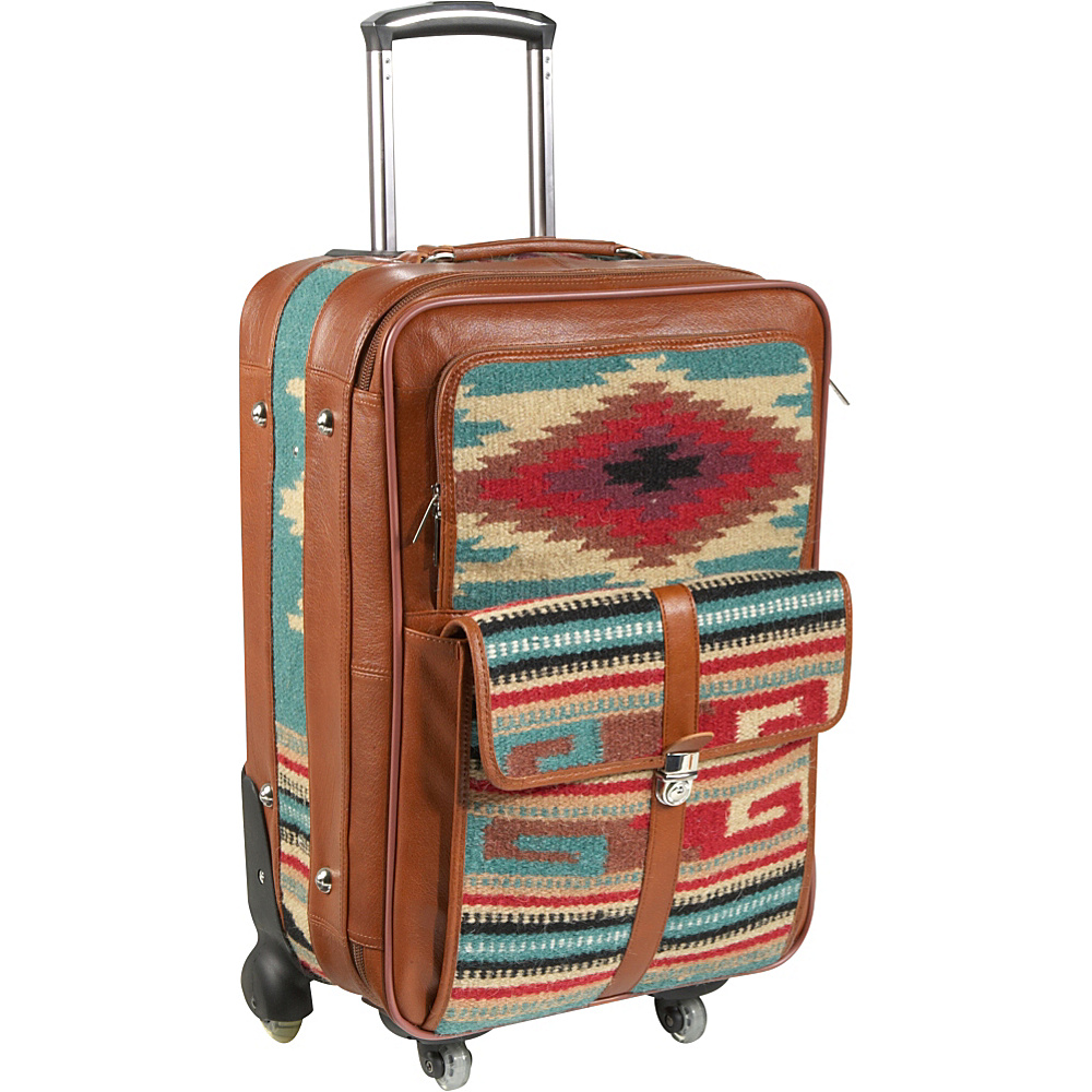 AmeriLeather Odyssey 23 Upright Turquoise - AmeriLeather Softside Checked - Luggage, Softside Checked