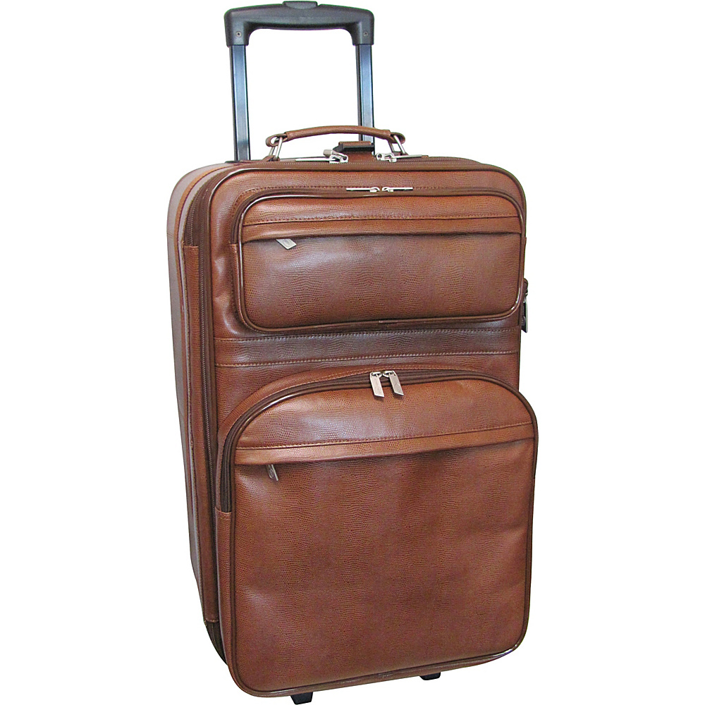 AmeriLeather Leather 25 Expandable Upright - Brown - Luggage, Softside Checked
