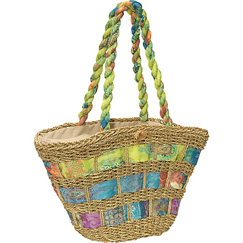 Cappelli Straw Handbag With Assorted Fabric - Tote