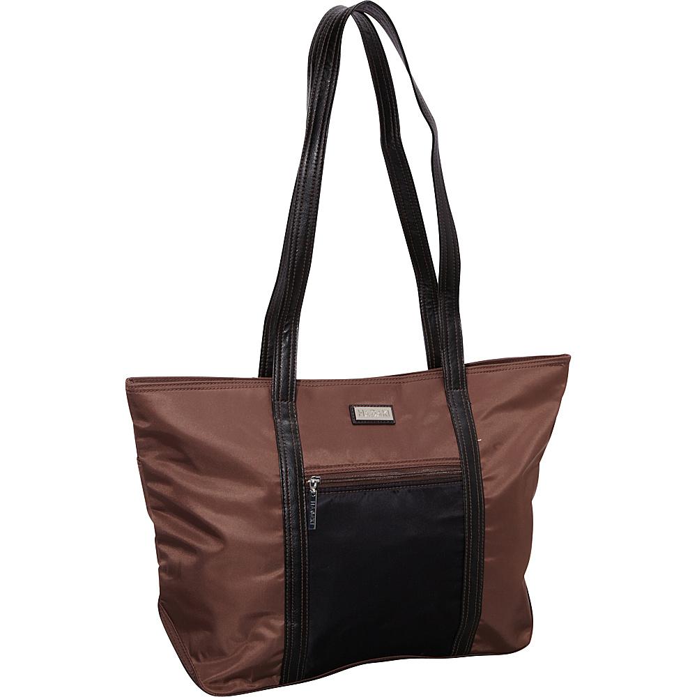 Hadaki Cosmopolitan Tote Chocolate/Black - Hadaki Fabric Handbags - Handbags, Fabric Handbags