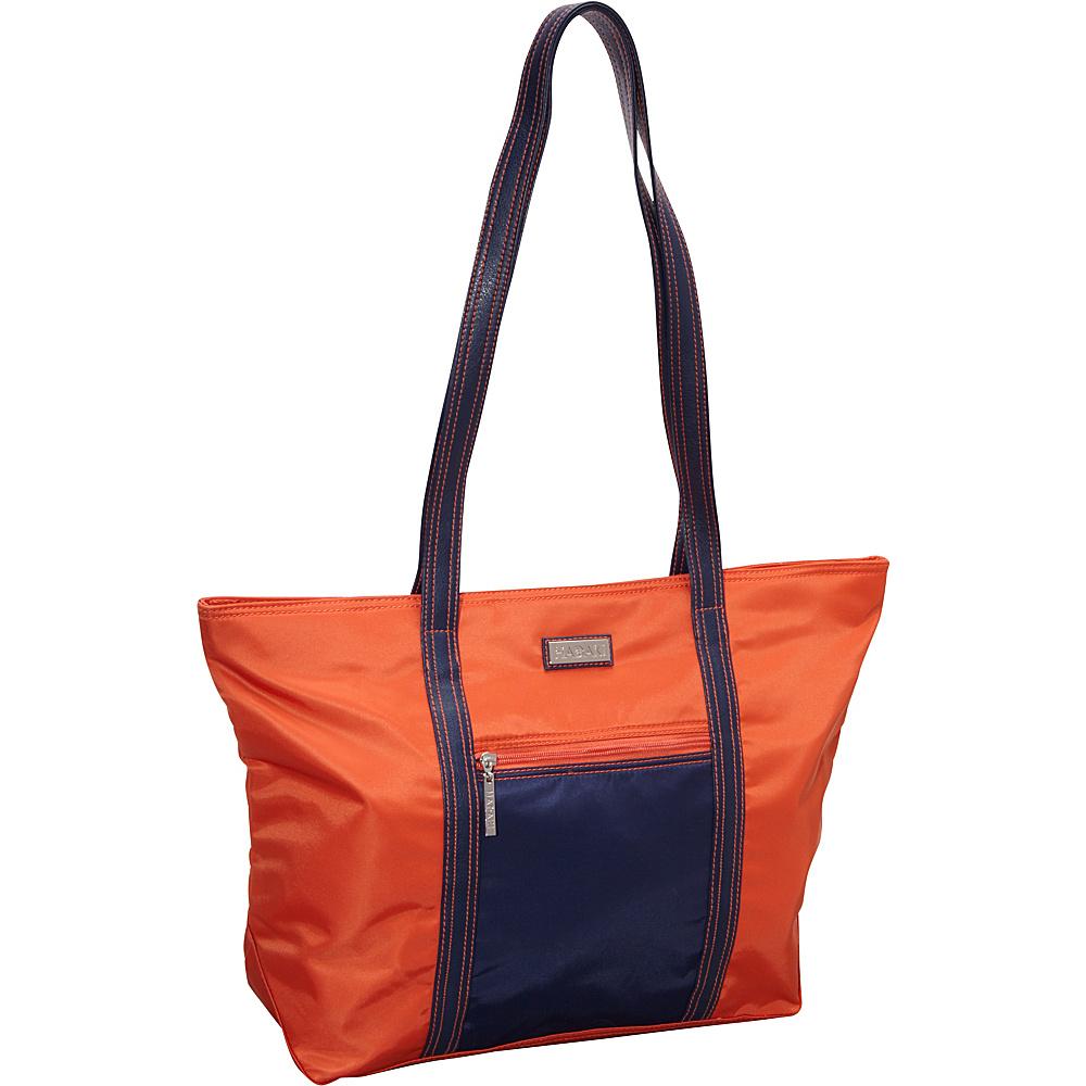 Hadaki Cosmopolitan Tote Orange/Navy - Hadaki Fabric Handbags - Handbags, Fabric Handbags
