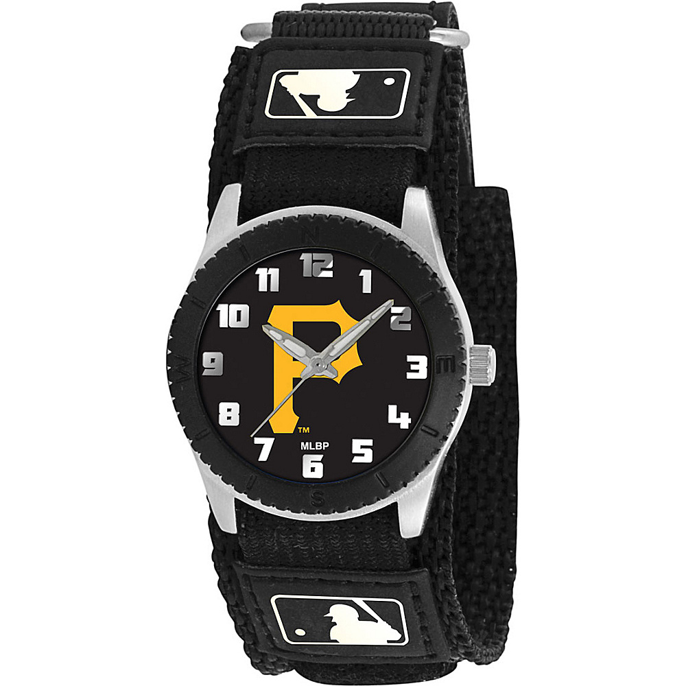 Game Time Rookie Black - MLB Pittsburgh Pirates P logo - Game Time Watches - Fashion Accessories, Watches