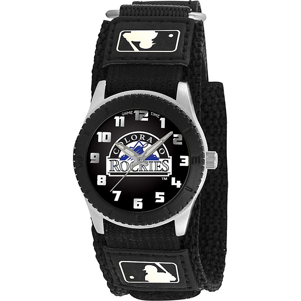 Game Time Rookie Black MLB Colorado Rockies Black Game Time Watches