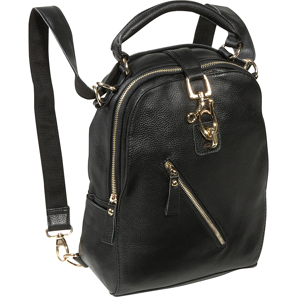 AmeriLeather Quince Leather Handbag / Backpack - Black - Handbags, Leather Handbags