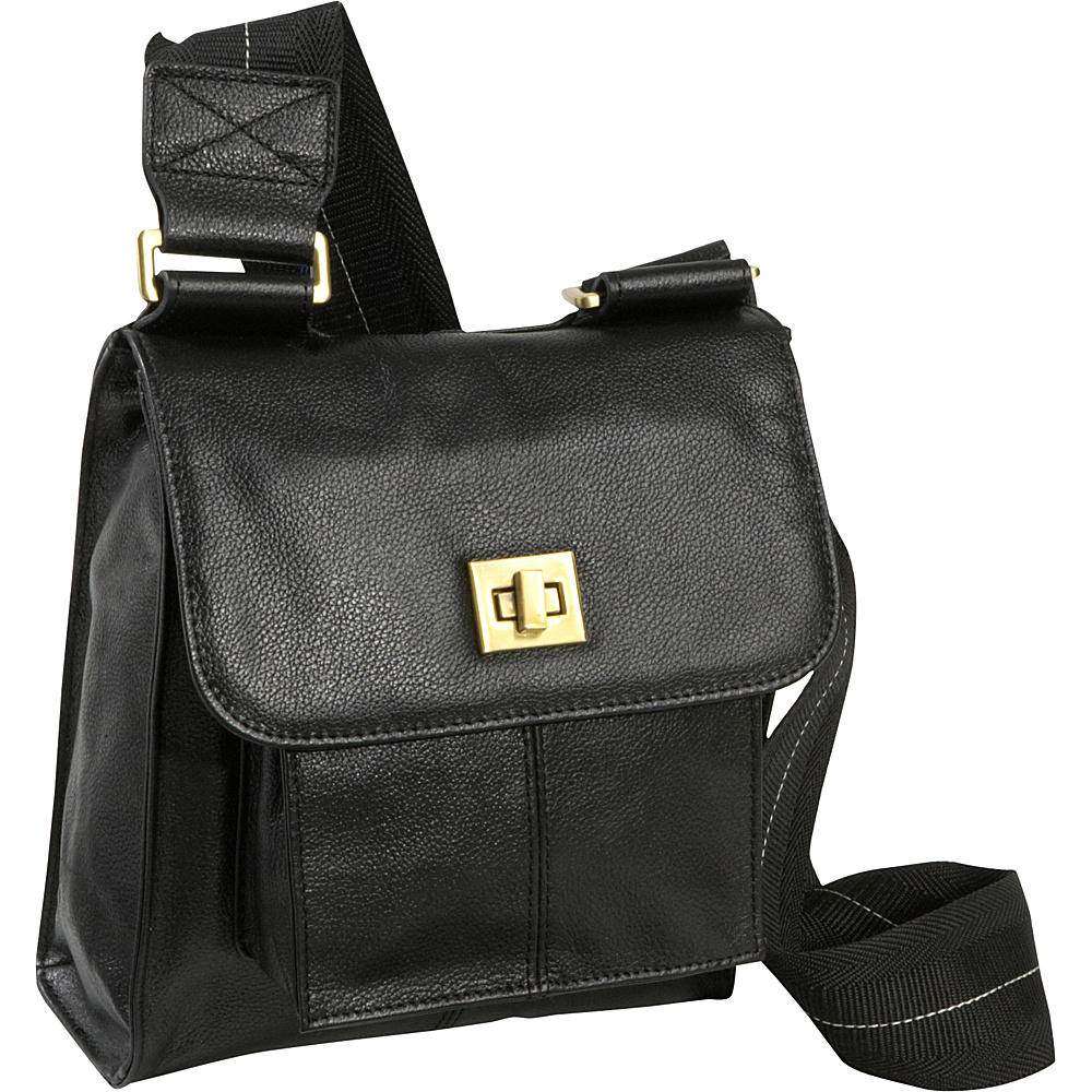 AmeriLeather Antony Leather Messenger Bag - Black - Work Bags & Briefcases, Other Men's Bags