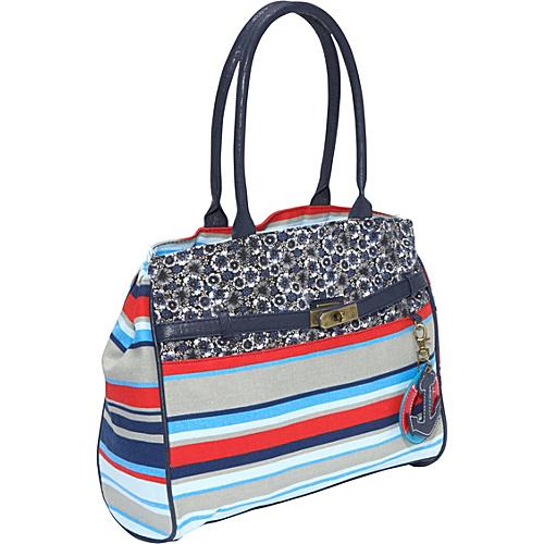 Ashley M Everyday Striped Handbag