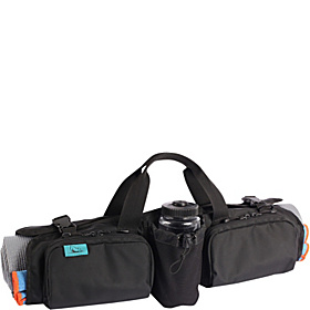 Hotdog Yoga Rollpack Black Ballistic with Blue Lining