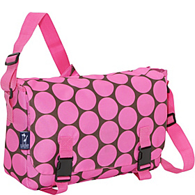 Big Dots Pink Jumpstart Messenger Bag Big Dots Hot Pink