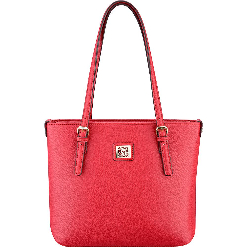 Anne Klein Perfect Tote Small Shopper Cherry - Anne Klein Manmade Handbags