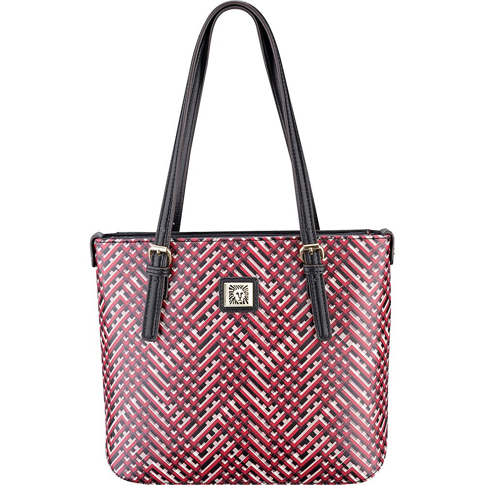 Anne Klein Perfect Tote Small Shopper Cherry Multi/Black - Anne Klein Manmade Handbags
