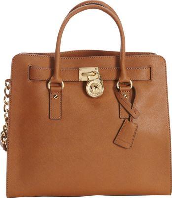 MICHAEL Michael Kors Hamilton 18K N/S Tote Bag - Saffiano Luggage - MICHAEL Michael Kors Designer Handbags