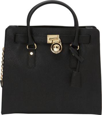 MICHAEL Michael Kors Hamilton 18K N/S Tote Bag - Saffiano Black - MICHAEL Michael Kors Designer Handbags