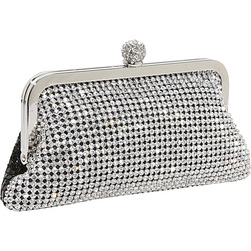 J. Furmani Crystal and Metal Mesh Evening Bag Black - J. Furmani Evening Bags