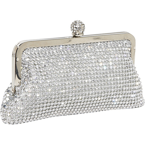J. Furmani Crystal and Metal Mesh Evening Bag Silver - J. Furmani Evening Bags