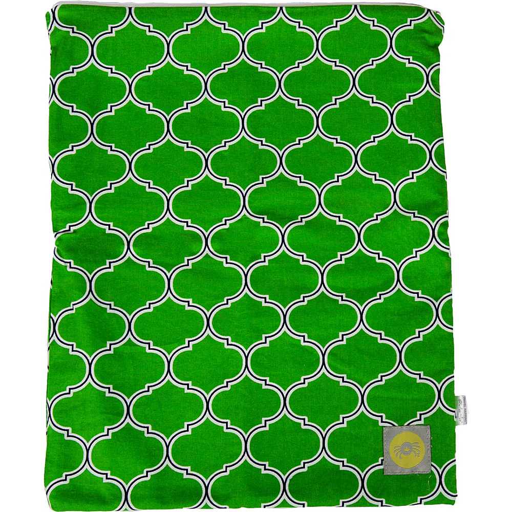 Itzy Ritzy Travel Happens Sealed Wet Bag Medium Emerald Trellis - Itzy Ritzy Diaper Bags & Accessories