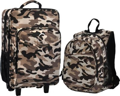 Obersee Kids Camo Luggage and Backpack Set With Integrated Cooler Camo - Obersee Softside Carry-On