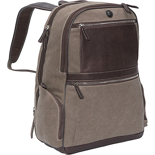 Bellino Autumn Computer Backpack (Scan Express) Brown - Bellino Laptop Backpacks