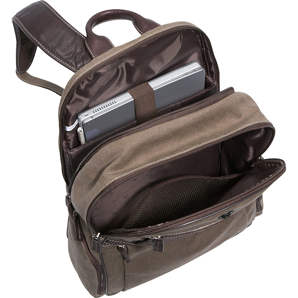 Bellino Autumn Computer Backpack (Scan Express) Brown - Bellino Business & Laptop Backpacks