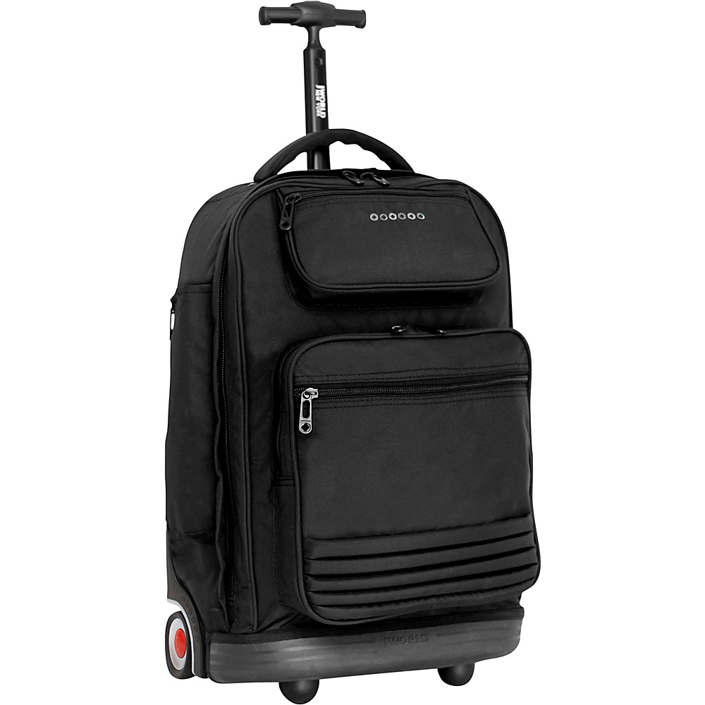 J World New York Parkway Rolling Backpack Black - J World New York Rolling Backpacks - Backpacks, Rolling Backpacks