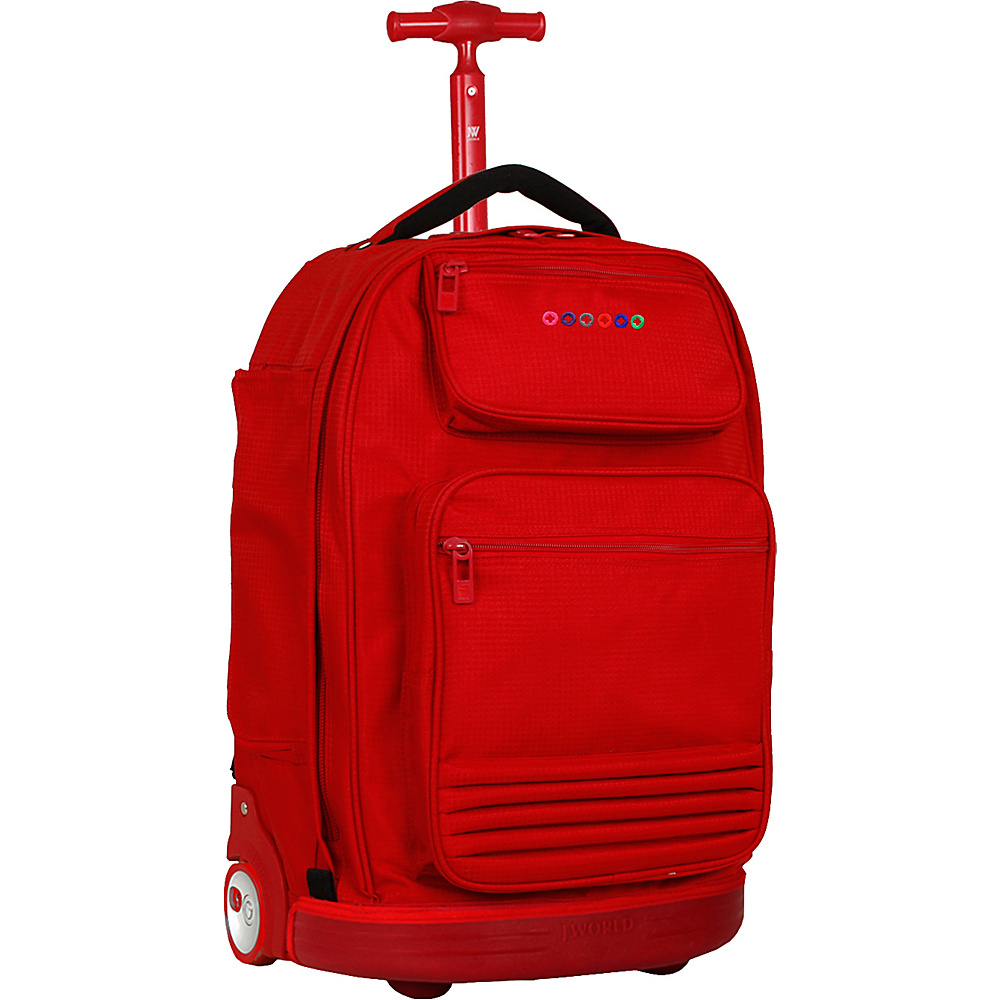 J World New York Parkway Rolling Backpack Red - J World New York Rolling Backpacks - Backpacks, Rolling Backpacks