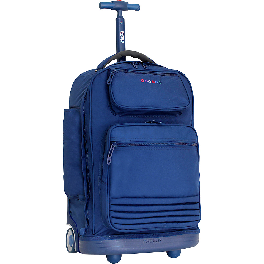 J World New York Parkway Rolling Backpack Navy - J World New York Rolling Backpacks - Backpacks, Rolling Backpacks