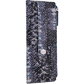 Regal Snake Credit Card Case with Zip Pocket Marine