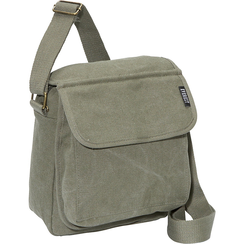 Everest Canvas Messenger Olive - Everest Messenger Bags - Work Bags & Briefcases, Messenger Bags