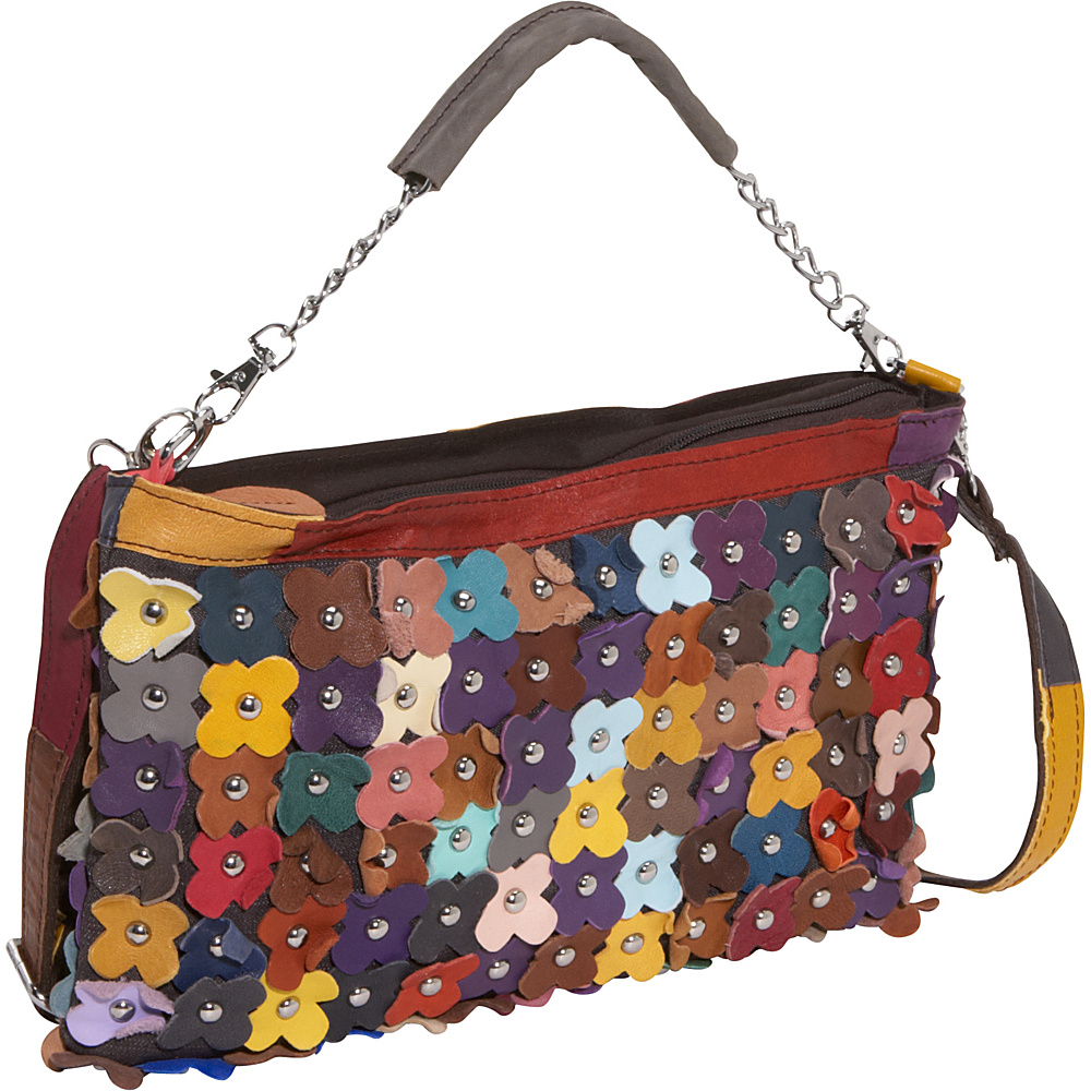 AmeriLeather Hana Clutch Large Purse - Rainbow - Handbags, Leather Handbags