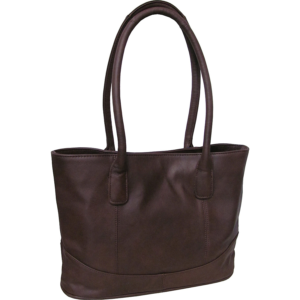 AmeriLeather Casual Leather Tote Dark Burgundy - AmeriLeather Leather Handbags - Handbags, Leather Handbags